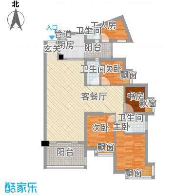 庆峰花园123.00㎡庆峰花园4室户型4室