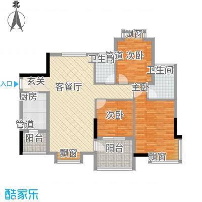 庆峰花园134.00㎡庆峰花园3室户型3室