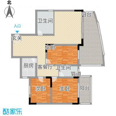 宏明大厦152.30㎡宏明大厦户型图G户型3室2厅2卫1厨户型3室2厅2卫1厨