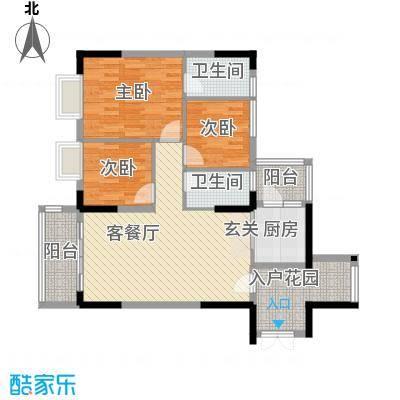 景致尚寓景致尚寓户型图7座305清水板房3房2厅2卫1厨84.41㎡户型户型10室