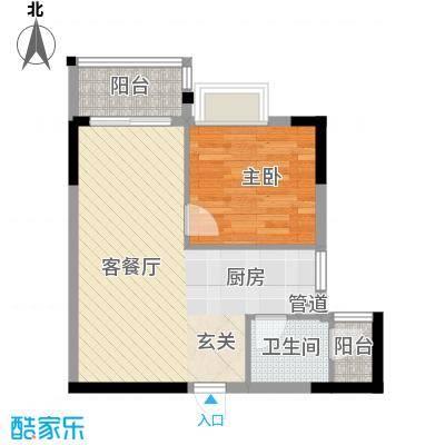 景致尚寓景致尚寓户型图7座304示范单位1房2厅1卫46.67㎡户型户型10室