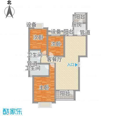 富民花园110.00㎡南栅富民花园3室户型3室