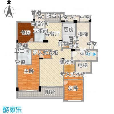 绿城�园172.00㎡绿城�园户型图1号楼西边套A户型3室2厅2卫1厨户型3室2厅2卫1厨