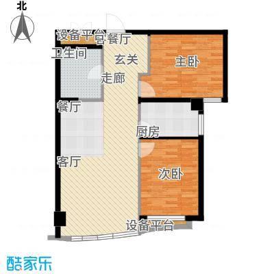 和平丽苑90.37㎡和平丽苑户型图户型2室2厅1卫1厨户型2室2厅1卫1厨