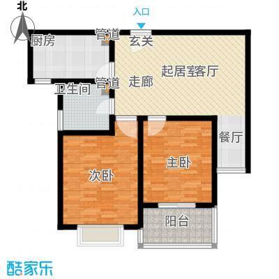 亲贤苑 2室 户型图