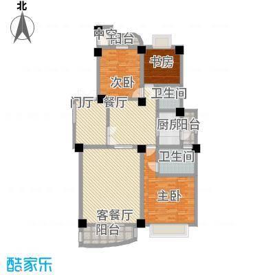 怡心居户型图三室两厅两卫 3室2厅2卫1厨