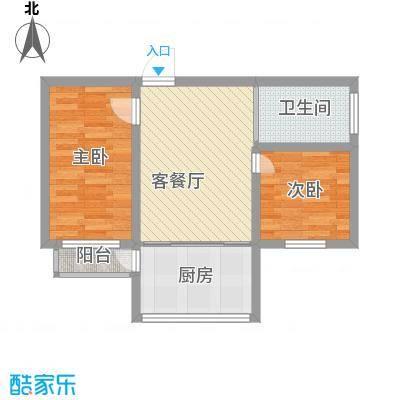 八一路小区户型图2室1厅1卫1厨