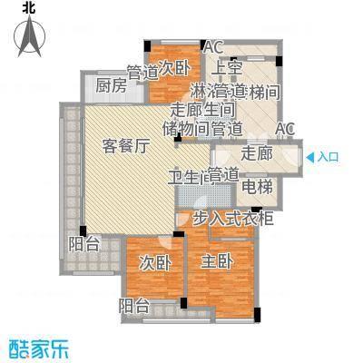 绿城�园167.00㎡绿城�园户型图2号楼D户型3室2厅2卫1厨户型3室2厅2卫1厨