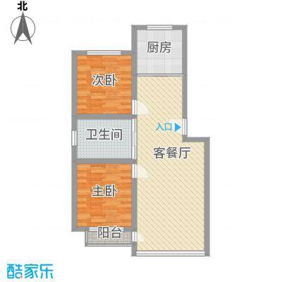 八一路小区户型图2室2厅1卫1厨