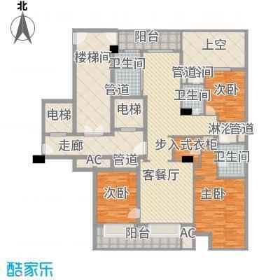 绿城�园171.00㎡绿城�园户型图4号楼中间套G户型3室2厅2卫1厨户型3室2厅2卫1厨