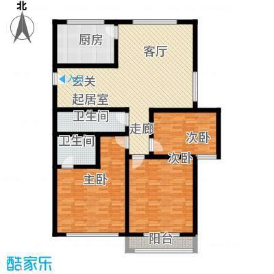 绿洲花园129.00㎡绿洲花园户型图3室户型图3室2厅2卫1厨户型3室2厅2卫1厨