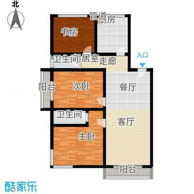 绿洲花园127.00㎡绿洲花园户型图3室户型图3室2厅2卫1厨户型3室2厅2卫1厨