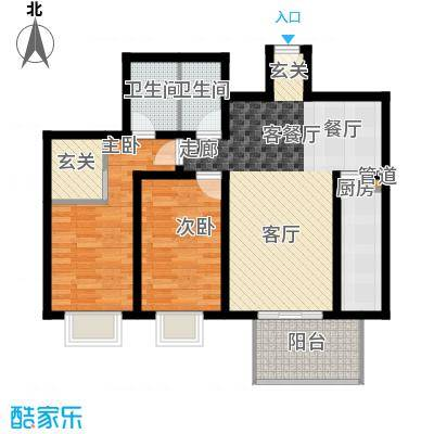 东泰花园明华苑82.00㎡东泰花园明华苑2室户型2室