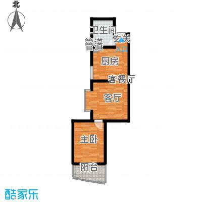 华旗地和苑59.89㎡一室一厅一卫59.89户型1室1厅1卫1厨