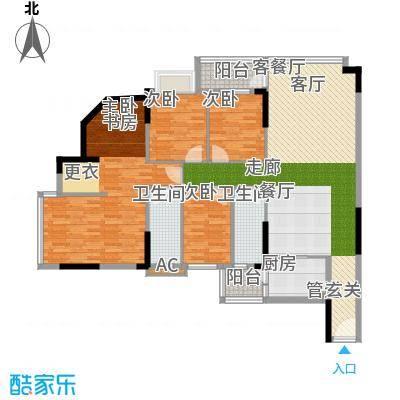 蓝色海岸134.70㎡蓝色海岸户型图A座二-二十六层04户型4室2厅2卫户型4室2厅2卫