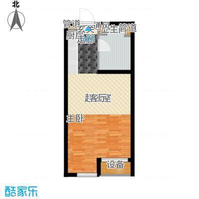 世茂广场47.00㎡世茂广场户型图F户型1室1厅1卫1厨户型1室1厅1卫1厨