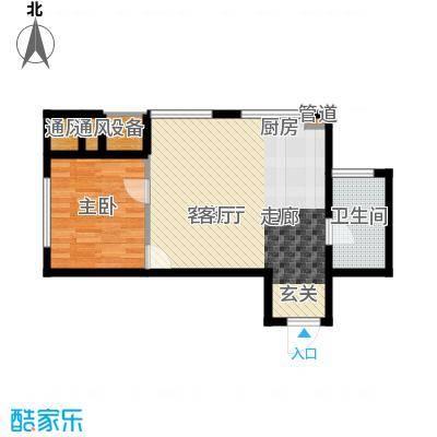 世茂广场57.00㎡世茂广场户型图B户型1室1厅1卫1厨户型1室1厅1卫1厨