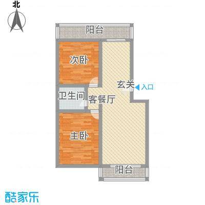 金胜新区97.85㎡金胜新区户型图2室1厅1卫1厨户型10室