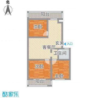 金胜新区96.98㎡金胜新区户型图3室2厅1卫1厨户型10室
