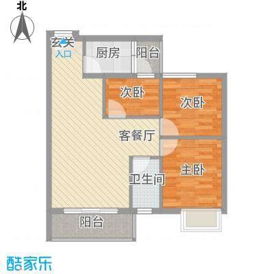 汇星苑79.00㎡汇星苑户型图21#、22#、23#04单位3室2厅户型3室2厅