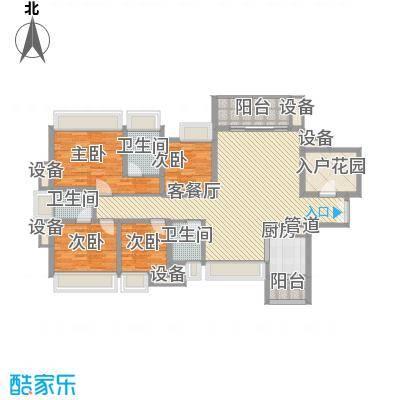 富通天邑湾144.70㎡富通天邑湾户型图6-9座标准层D2户型4室2厅3卫户型4室2厅3卫