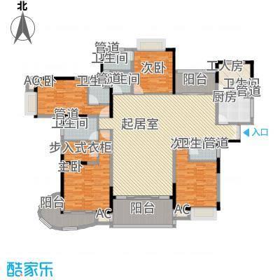 愉景花园282.00㎡愉景花园5室户型5室