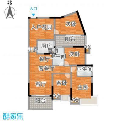 滨江公馆二期108.37㎡滨江公馆二期户型图3栋3单元03户型4室2厅2卫1厨户型4室2厅2卫1厨