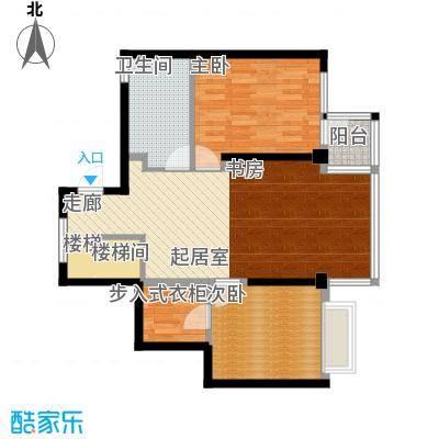 美的新海岸108.00㎡美的新海岸户型图108平方米3室2厅1卫户型3室2厅1卫