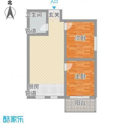 北方三角洲81.00㎡1#楼B户户型2室