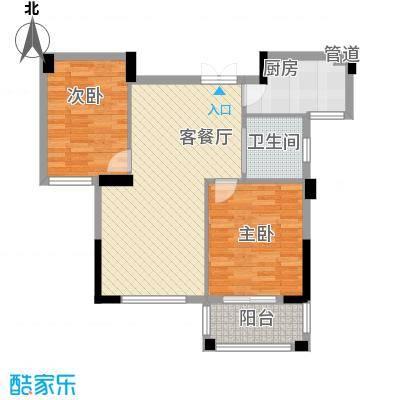 康恒悦麒美寓89.00㎡康恒悦麒美寓户型图B3户型偶数层2室2厅户型2室2厅