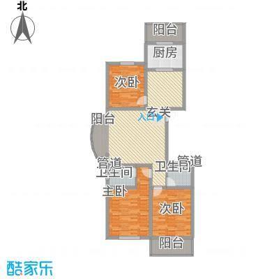 北方三角洲144.00㎡2#楼E户户型2室