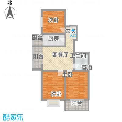 北方三角洲114.00㎡1#楼C户户型3室