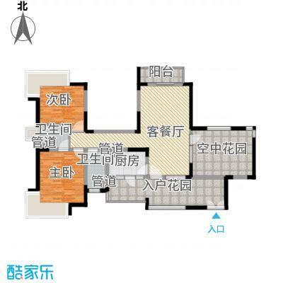 新世纪星城三期109.00㎡新世纪星城三期户型图38栋双数层A3户型2室2厅2卫户型2室2厅2卫