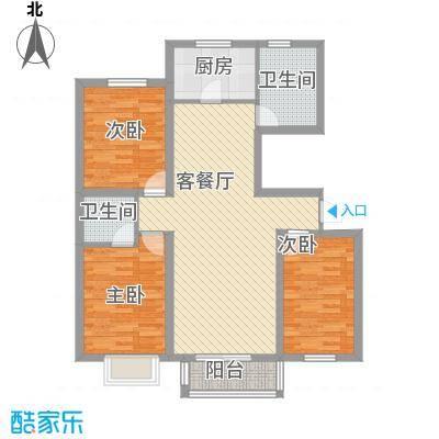 好运广场118.00㎡好运广场2室户型2室