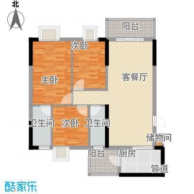 逸涛居 3室 户型图
