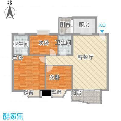 庆峰花园120.00㎡庆峰花园3室户型3室