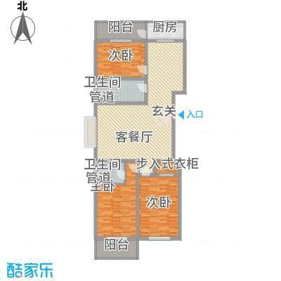 学府小院5#户型3室