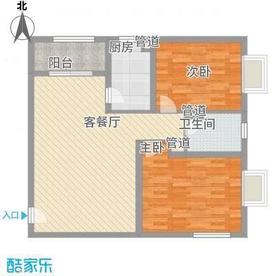 A+5米4100.00㎡2房2厅户型2室2厅