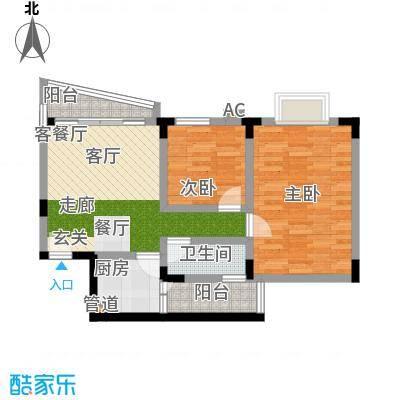 紫荆花园65.00㎡紫荆花园一期1室户型1室