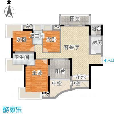 鼎峰品筑二期124.00㎡鼎峰品筑二期户型图4-5座标准层A1、B1户型图3室户型3室
