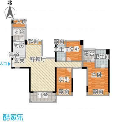 现代经典花园186.00㎡现代经典花园3室户型3室