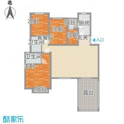 现代经典花园180.00㎡现代经典花园4室户型4室