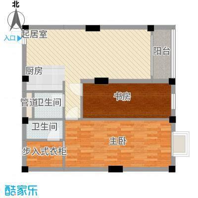 叠美居74.00㎡叠美居户型图B区215户型10室