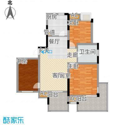 元都新景公寓105.00㎡元都新景公寓户型图B型3室2厅1卫1厨户型3室2厅1卫1厨
