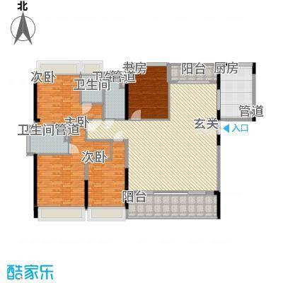 合正上东国际三期159.00㎡合正上东国际三期户型图8-11栋标准层1单元01户型4室2厅3卫1厨户型4室2厅3卫1厨