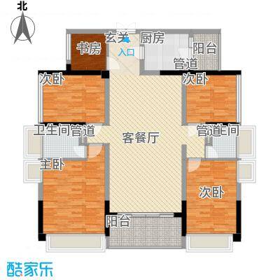合正上东国际三期144.00㎡合正上东国际三期户型图8-11栋标准层1单元02户型5室2厅2卫1厨户型5室2厅2卫1厨