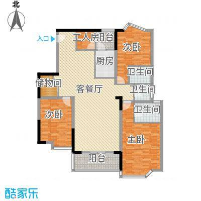 芳桂园149.00㎡芳桂园4室户型4室