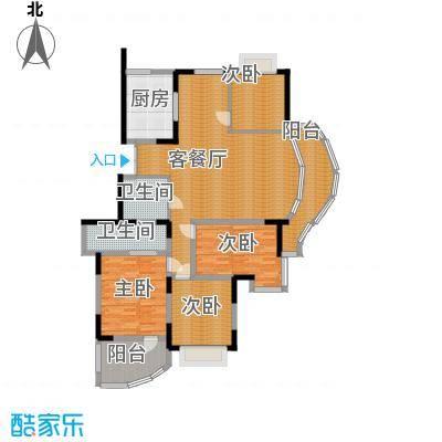 紫庭花园147.94㎡户型4室1厅2卫1厨