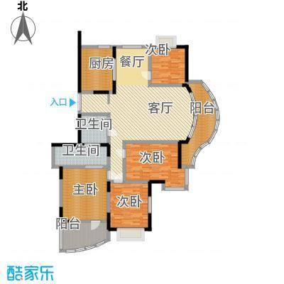 紫庭花园166.54㎡户型4室1厅2卫1厨