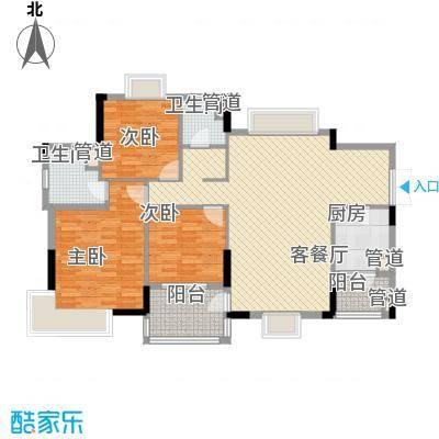 联华花园城三期133.08㎡联华花园城三期3室户型3室